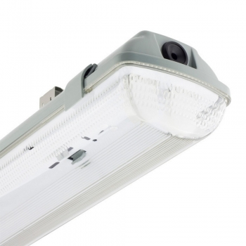 PLAFONIERA STAGNA 1-2 NEON LED TUBO INCLUSO T8 60-120-150 CM 220V SOFFITTO IP65