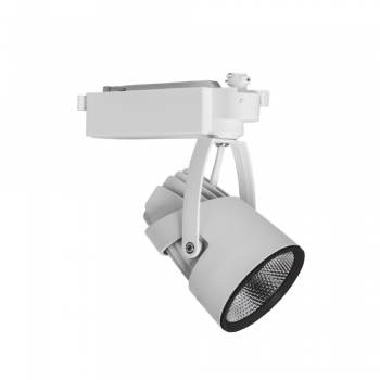 FARETTO LED WISDOM A BINARIO MONOFASE BIANCO O NERO 30W ORIENTABILE LED INTEGRATO
