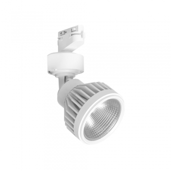 FARETTO LED WISDOM A BINARIO MONOFASE BIANCO 35W ORIENTABILE LED INTEGRATO