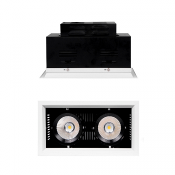 FARO LED DA INCASSO DOPPIO CON CHIP LED COB INTEGRATO 15+15W LUCE NATURALE 4000K