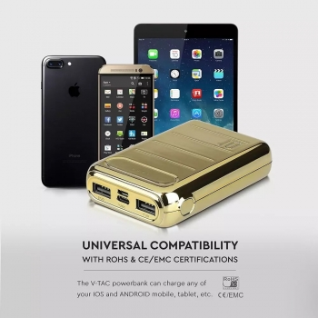 POWER BANK GOLD 10.000 / 20.000 MAH DUAL USB MICRO USB E TIPO C