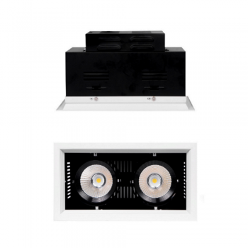 FARO LED DA INCASSO DOPPIO CON CHIP LED COB INTEGRATO 30+30W LUCE NATURALE 4000K
