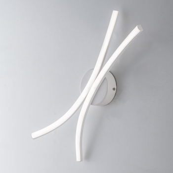 APPLIQUE LED 12W NOODLES BIANCO - LUCE NATURALE PRODUZIONE MADE IN ITALY